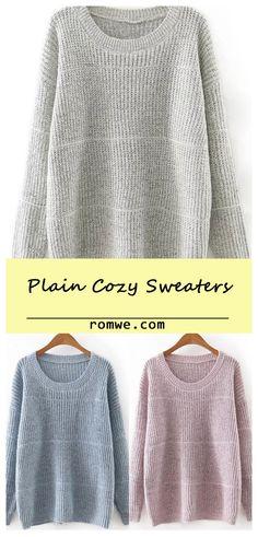 Round Neck Plain Knitwear