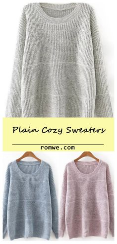 Round Neck Plain Knitwear
