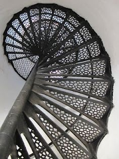Poe designed stairway in Au Sable Lighthouse on Lake Superior