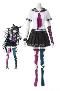 Super Dangan Ronpa 2 Mioda Ibuki Cosplay Costume Girl Sailor Uniform School Set