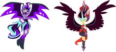 [AU] Demon Starlight and Midnight Dancer by LimeDazzle on DeviantArt My Little Pony Twilight, My Little Pony Comic, Rock Band Outfits, Gloriosa Daisy, Princesa Celestia, Funny Parrots, My Little Pony Characters, Nightmare Moon, Bio Art
