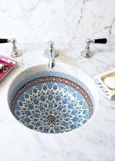 Pattern Bathroom sink