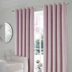 The Velour Pink Thermal Eyelet Curtains are interlined for warmth and have a super soft velvety finish. Free Delivery Over Kids Bedroom, Master Bedroom, Rainbow Bedroom, Home Focus, Curtain Rails, Delicate Wash, Colorful Curtains