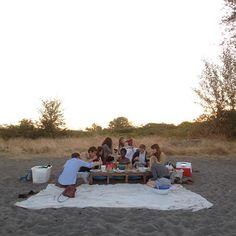 birthday dinner with friends at Sauvie island tonight @kinfolkmag- #webstagram