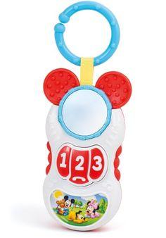 Clementoni – Sonajero C/ Forma Telefono C/ Mordedor Y Sonidos Mickey 17-14384