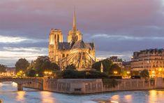 Indir duvar kağıdı Notre-Dame de Paris, Notre-Dame Katedrali, Katolik Kilisesi, 4k, Paris, Fransa