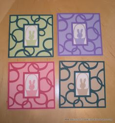 Easy Easter cards with the Cricut machine