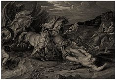 Death Of Hippolytus After Rubens Anker Smith 1810 Antique Engraving Rubens, Buy Art, Old Master, Occult, Engraving, Death, Wall Art For Sale, Art, Prints