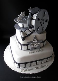 The Bridal shower: film reel cake | by Sogni di Zucchero