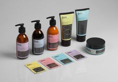 Design studio Mucho has created a striking brand identity for a new skincare range aimed at sportsmen and women.