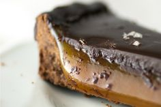 Salted Caramel Chocolate Tart [Vegan] | One Green Planet
