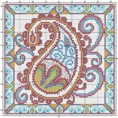 Cross stitch paisley