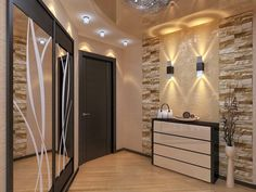 design and decor of the hallway interior for the hallway hallway interior to decorate the hallway Minimal House Design, Fireplace Tile Surround, Beige Living Rooms, Interior Design Gallery, House Front Design, Home Ceiling, Hallway Decorating, Home Decor Kitchen, Ceiling Design