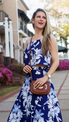 Spring and summer outfit inspiration by TeodorasLookbook.com; floral maxi skirt and top; floral maxi dress