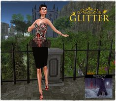 JUST-IN FASHION : *GLITTER* - INFATUATION CORSET & SKIRT EXCLUSIVE F...