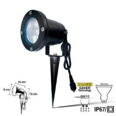 Easy Connect Spot à Piquer Noir Diamètre 63mm