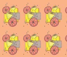 Citrus pattern fabric by kirstie_eleanor on Spoonflower - custom fabric