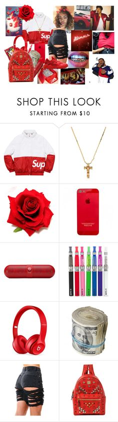 """supreme"" by rosemarieramz ❤ liked on Polyvore featuring Champion, Beats by Dr. Dre, MCM and NIKE"