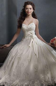 Disney Princess Bow Sleeveless Backless Hall Princess Bridal Gown - ninedresses.com