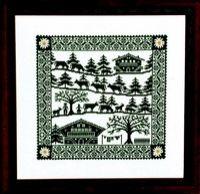 La Poya Cross Stitch Embroidery, Cross Stitch Patterns, Embroidery Ideas, Paper Cutting, Silhouettes, Switzerland, Folk Art, Ski, Woodland