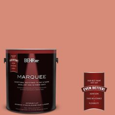 BEHR MARQUEE 1-gal. #MQ4-32 Vintage Coral Flat Exterior Paint