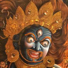 Fine bhairav paubha painting.