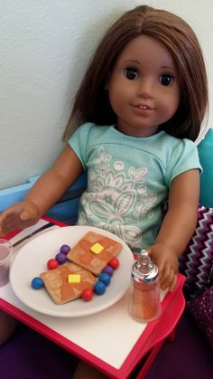 American Girl Doll Crafts and Fun!: Doll Craft: Waffles (needed: fun foam and paint)