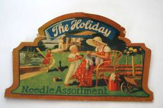 The Holiday Needle Assortment Vintage sewing  1930  by AbateArts, $4.00