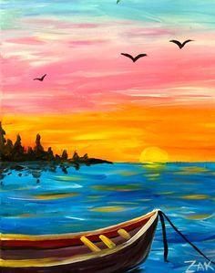 Fishing Boat Sunset