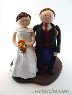 Tortenfiguren Brautpaar auf Smarties