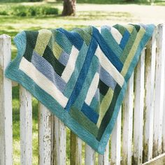 Valley Yarns161 Valley Log Cabin Blanket, $2.99 pattern