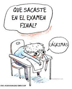 Qué sacaste en el examen final. Más humor en www.lasfotosmasgraciosas.com
