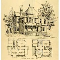 floor plans for old victorian homes - Google Search