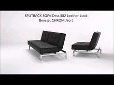 SPLITBACK SOFA & STOL Dess.582 Leather Look. Ben Chrom