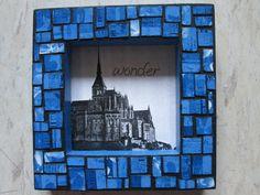 Faux mosaic- tissue box.