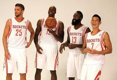2013 Rockets Media Day photo shoot with Chandler Parsons, Dwight Howard, James Harden & Jeremy Lin
