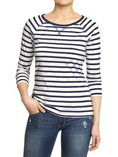 I like navy nautical stripe things - I have a navy blue skirt that I could pair this with.