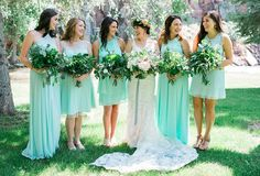 Relaxed Summer Wedding with bright pops of color in the Colorado Mountains | Snippet and Ink | Stella York lace, backless wedding dress