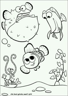Finding Nemo Coloring Page And Disney