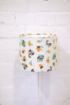 Nursery lampshade Woodland Animals nursery by ShadowbrightLamps