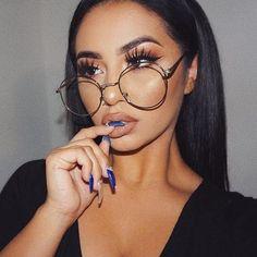 2017 New Designer Woman Glasses Optical Frames Metal Round Glasses Frame Clear lens Eyeware Black Silver Gold Eye Glass
