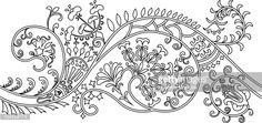 Vector Art : Filigree flower border. stencil