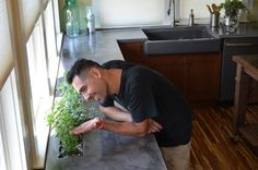How To Make DIY Concrete CounterTops  Credit: Dylan Eastman © 2014, DIY Network/Scripps Networks, LLC. All Rights Reserved.