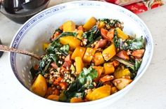Beet and Sweet Potato Salad.  Use allowed seasonings, oil, nuts and grains.