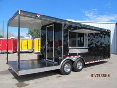 BLACK BEAUTY NEW 8.5 X 24 CONCESSION FOOD TRAILER CART STAND TRUCK CATERING BBQ