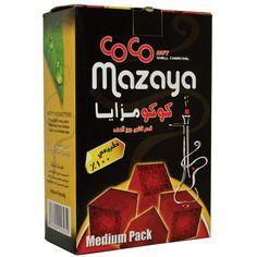 Coco Mazaya - USA - 100% natural coconut shell charcoal for hookah & inscents - hookah charcoal - hookah coal - odorless - tasteless - environmentally - eco friendly - starbuzz