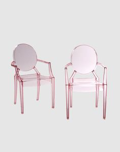 "Pink ""Ghost"" Chairs - Excellent, but insanely expensive!"