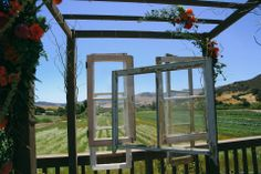 WEdding Arbor with windows hanging https://www.facebook.com/photo.php?fbid=756669117693453&set=a.756668654360166.1073741841.175082155852155&type=3&theater