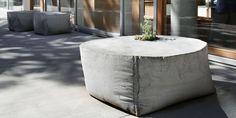 coole idee für Beton im Garten mit DIY Gartenbank und Blumentopf aus Beton