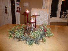 DIY Christmas centerpiece